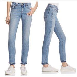 Rag & Bone Dre Raw Dip Hem Slim Boyfriend Jeans